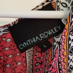 Cynthia Rowley Tops - Multi Color Tank Blouse w/ Button up Back sz L